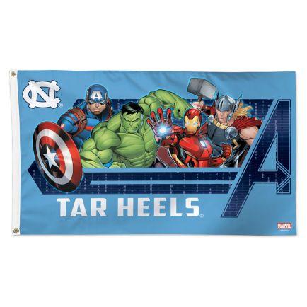 North Carolina Tar Heels / Marvel (c) 2021 MARVEL Flag - Deluxe 3' X 5'