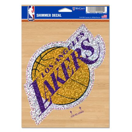 "Los Angeles Lakers Shimmer Decals 5"" x 7"""