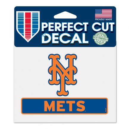 """New York Mets Perfect Cut Color Decal 4.5"""" x 5.75"""""""