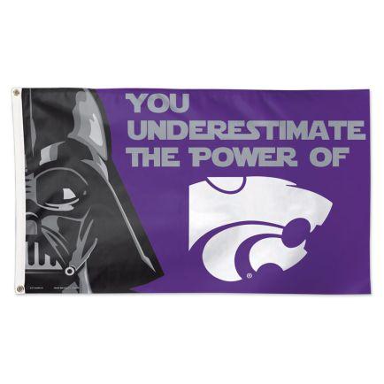 Kansas State Wildcats / Star Wars Darth Vader Flag - Deluxe 3' X 5'