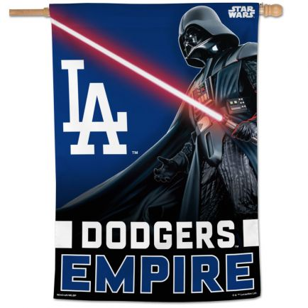 "Los Angeles Dodgers / Star Wars vader Vertical Flag 28"" x 40"""