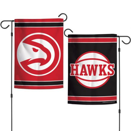 "Atlanta Hawks Garden Flags 2 sided 12.5"" x 18"""