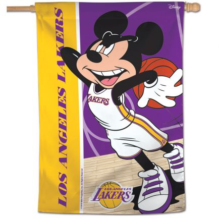 """Los Angeles Lakers / Disney Vertical Flag 28"""" x 40"""""""