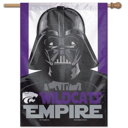 "Kansas State Wildcats / Star Wars vader Vertical Flag 28"" x 40"""