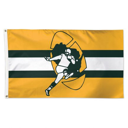 Green Bay Packers / Classic Logo Retro Flag - Deluxe 3' X 5'
