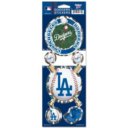 "Los Angeles Dodgers Prismatic Decal 4"" x 11"""