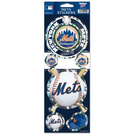 """New York Mets Prismatic Decal 4"""" x 11"""""""
