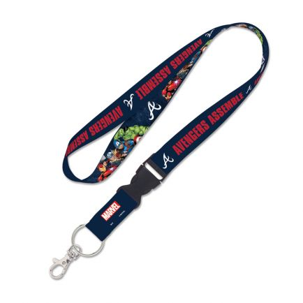 "Atlanta Braves / Marvel (c) 2021 MARVEL Lanyard w/detachable buckle 1"""