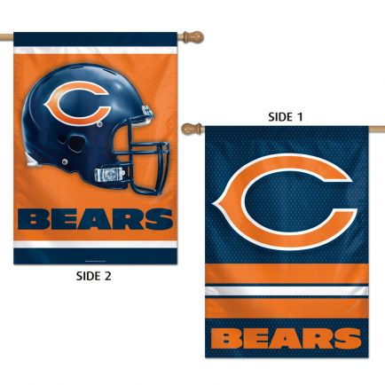 "Chicago Bears Vertical Flag 2 Sided 28"" x 40"""
