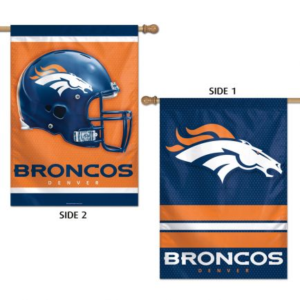 "Denver Broncos Vertical Flag 2 Sided 28"" x 40"""