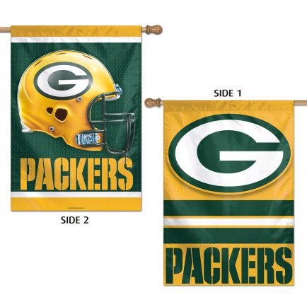 "Green Bay Packers Vertical Flag 2 Sided 28"" x 40"""