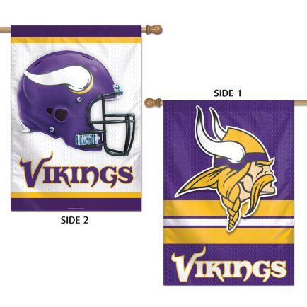 """Minnesota Vikings Vertical Flag 2 Sided 28"""" x 40"""""""