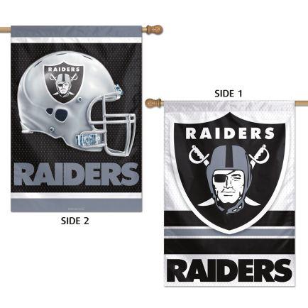 "Las Vegas Raiders Vertical Flag 2 Sided 28"" x 40"""