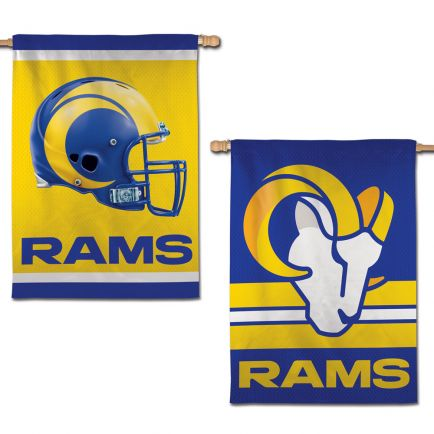 """Los Angeles Rams Vertical Flag 2 Sided 28"""" x 40"""""""