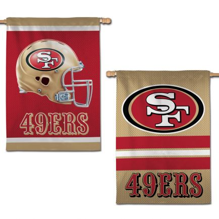 "San Francisco 49ers Vertical Flag 2 Sided 28"" x 40"""