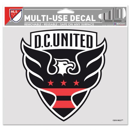 "D.C. United Multi-Use Decal -Clear Bckrgd 5"" x 6"""
