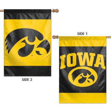 """Iowa Hawkeyes Vertical Flag 2 Sided 28"""" x 40"""""""