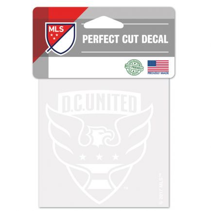 "D.C. United Perfect Cut White Decal 4"" x 4"""