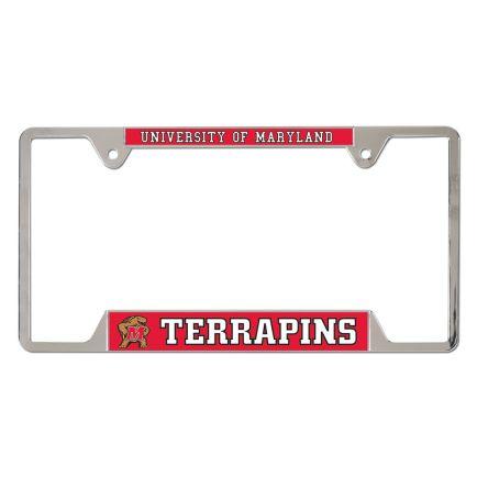 Maryland Terrapins Metal License Plate Frame