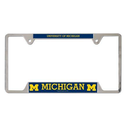 Michigan Wolverines Metal License Plate Frame