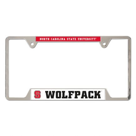 NC State Wolfpack Metal License Plate Frame