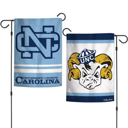 "North Carolina Tar Heels /College Vault Garden Flags 2 sided 12.5"" x 18"""