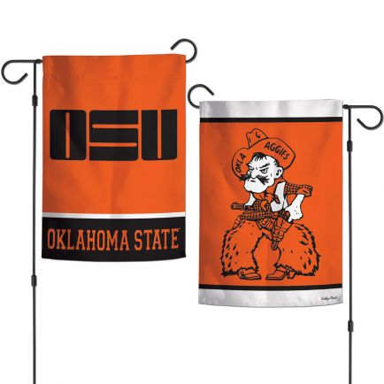 """Oklahoma State Cowboys /College Vault Garden Flags 2 sided 12.5"""" x 18"""""""
