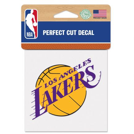 "Los Angeles Lakers Perfect Cut Color Decal 4"" x 4"""