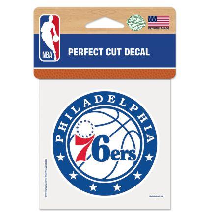 "Philadelphia 76ers Perfect Cut Color Decal 4"" x 4"""