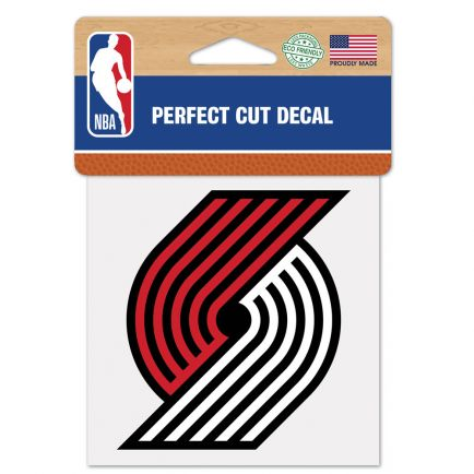 "Portland Trail Blazers Perfect Cut Color Decal 4"" x 4"""