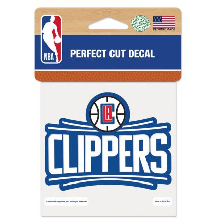 "Los Angeles Clippers Perfect Cut Color Decal 4"" x 4"""