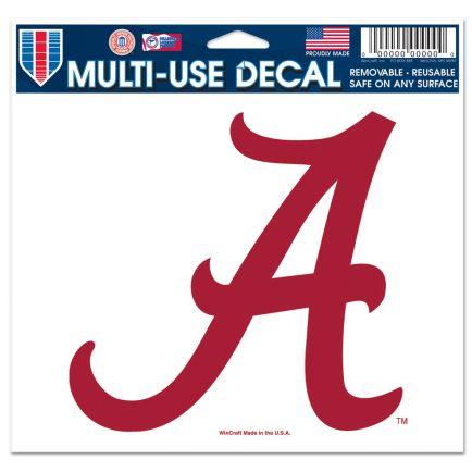 "Alabama Crimson Tide Multi-Use Decal -Clear Bckrgd 5"" x 6"""
