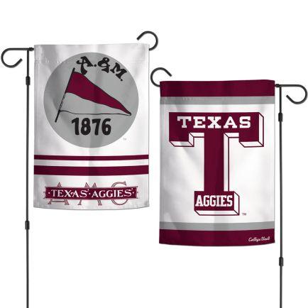 "Texas A&M Aggies /College Vault Garden Flags 2 sided 12.5"" x 18"""