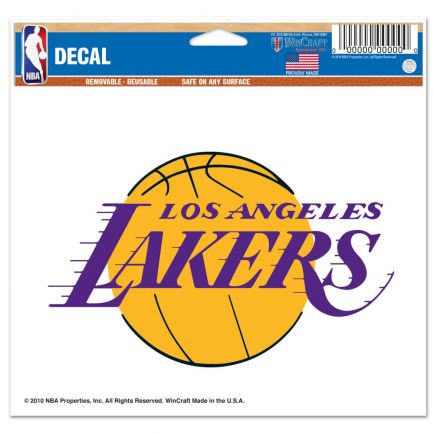 "Los Angeles Lakers Multi-Use Decal -Clear Bckrgd 5"" x 6"""