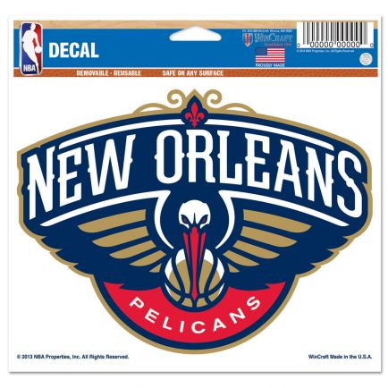 """New Orleans Pelicans Multi-Use Decal -Clear Bckrgd 5"""" x 6"""""""