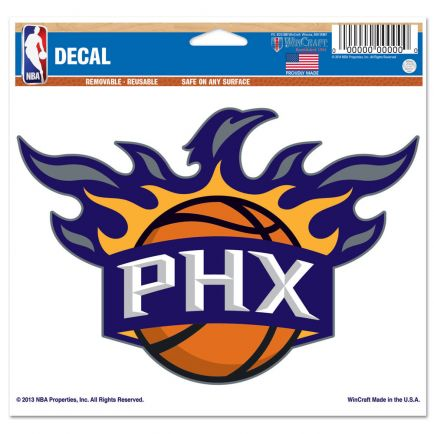 "Phoenix Suns Multi-Use Decal -Clear Bckrgd 5"" x 6"""