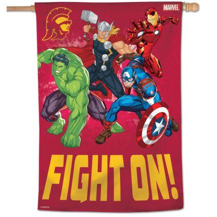 """USC Trojans / Marvel (c) 2021 MARVEL Vertical Flag 28"""" x 40"""""""
