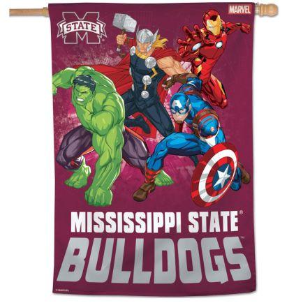 """Mississippi State Bulldogs / Marvel (c) 2021 MARVEL Vertical Flag 28"""" x 40"""""""
