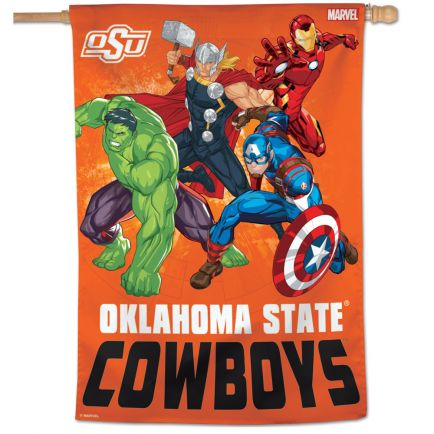 "Oklahoma State Cowboys / Marvel (c) 2021 MARVEL Vertical Flag 28"" x 40"""