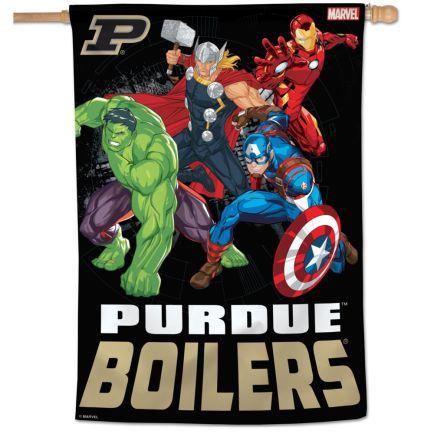 "Purdue Boilermakers / Marvel (c) 2021 MARVEL Vertical Flag 28"" x 40"""