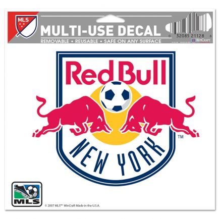 """New York Red Bulls Multi-Use Decal -Clear Bckrgd 5"""" x 6"""""""