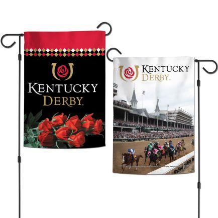 """Kentucky Derby Garden Flags 2 sided 12.5"""" x 18"""""""