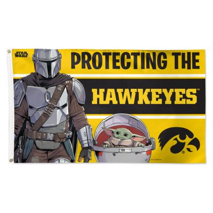 Iowa Hawkeyes / Star Wars MANDALORIAN Flag - Deluxe 3' X 5'