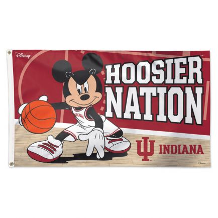 Indiana Hoosiers / Disney MICKEY MOUSE BASKETBALL Flag - Deluxe 3' X 5'
