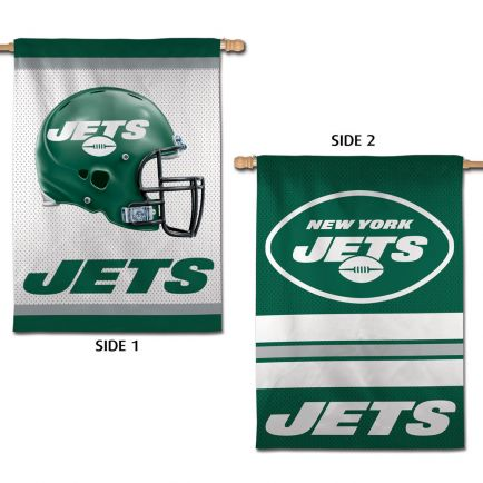 """New York Jets Vertical Flag 2 Sided 28"""" x 40"""""""