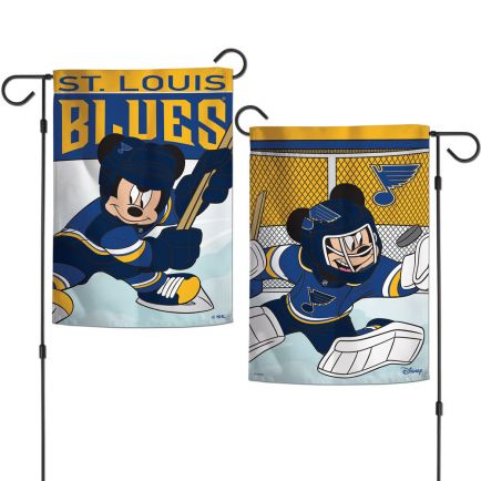"St. Louis Blues / Disney Garden Flags 2 sided 12.5"" x 18"""