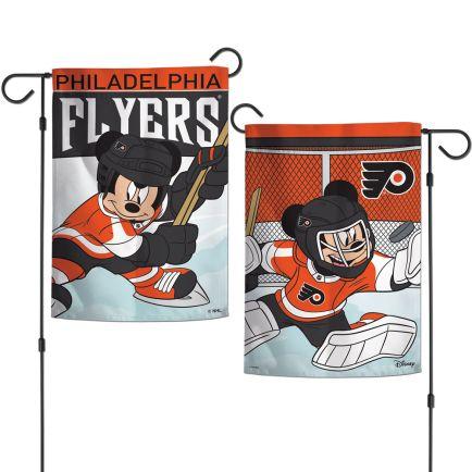 "Philadelphia Flyers / Disney Garden Flags 2 sided 12.5"" x 18"""