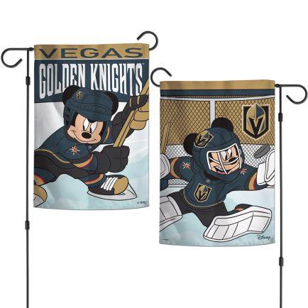"""Vegas Golden Knights / Disney Garden Flags 2 sided 12.5"""" x 18"""""""