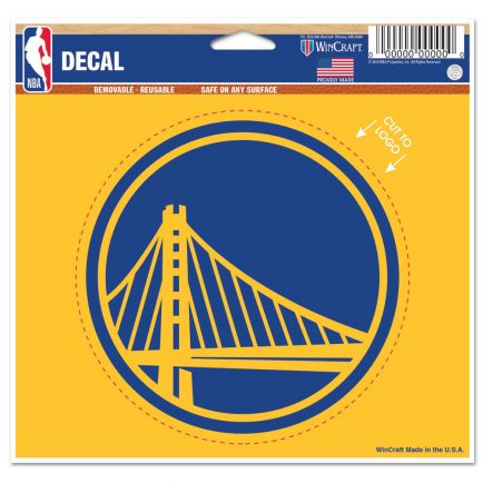 "Golden State Warriors Multi-Use Decal - cut to logo 5"" x 6"""