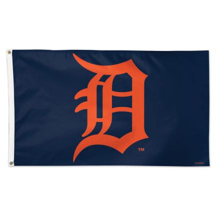 Detroit Tigers Logo Flag - Deluxe 3' X 5'